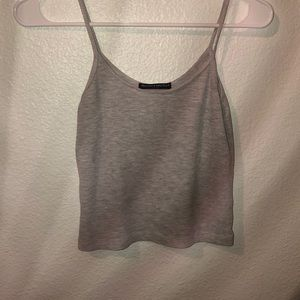 grey tank top from brandy melville